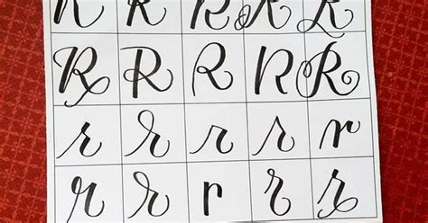 20 Ways To Write The Letter R By @letteritwrite • See Also