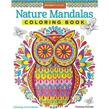 nature mandalas coloring book walmartcom