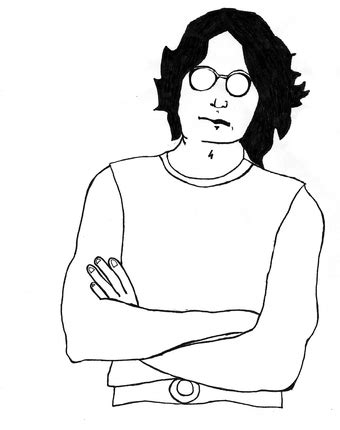 dibujos  pintar de john lennon colorear imagenes