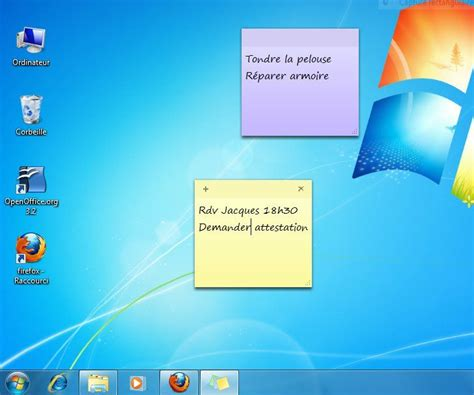 mettre un post it sur le bureau windows 8 afficher des post it sur un ordinateur windows 7 lecoindunet