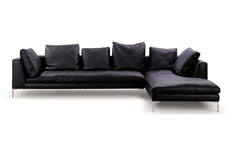 l shaped leather sofa minimalist black leather sectional couch with cushions of