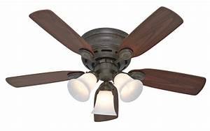 Hunter quot low profile plus ceiling fan in
