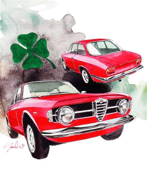 Alfa Romeo Giulia Painting By Yoshiharu Miyakawa