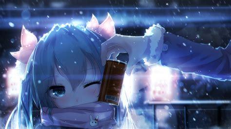 2560x1440 Anime Wallpaper - anime wallpaper 2560 x 1440 hatsune miku snow cold blue