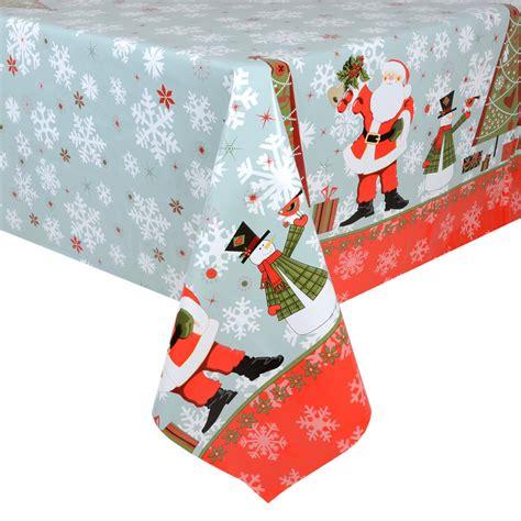 Tisch Eindecken Weihnachten by Blue Santas Pvc Wipe Clean Tablecloth