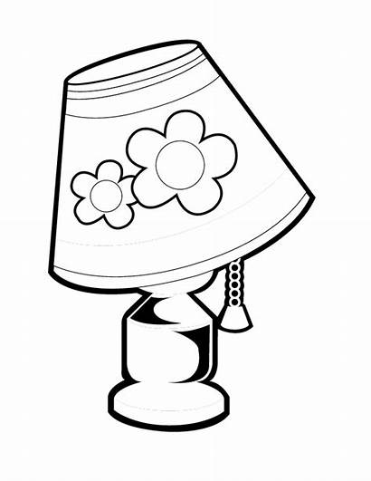 Lamp Coloring Drawing Colouring Pages Lamps Sheet