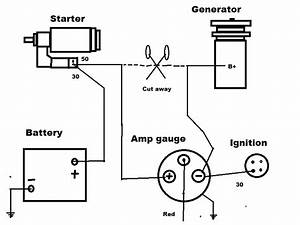 7 best images of automotive amp meter wiring diagram amp With amp gauge wiring diagram