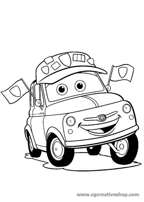 disegni da colorare mario e luigi luigi la fiat 500 di cars disney disegno da colorare