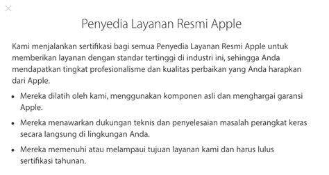 tempat service center iphone resmi apple  indonesia