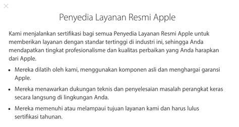 tempat service center iphone resmi apple  indonesia