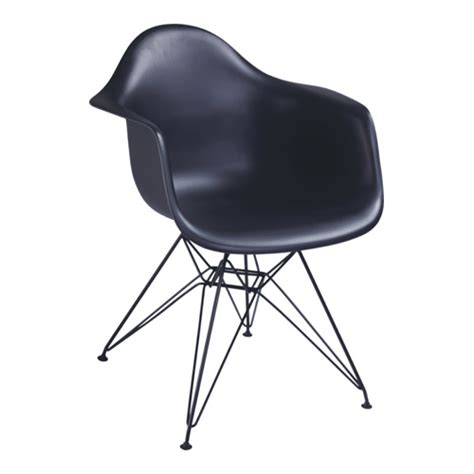 modern black steel base eames dar chair from china
