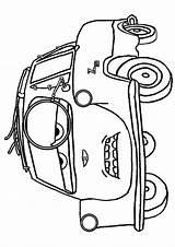 Coloring Pixar Disney Garage Cruise sketch template