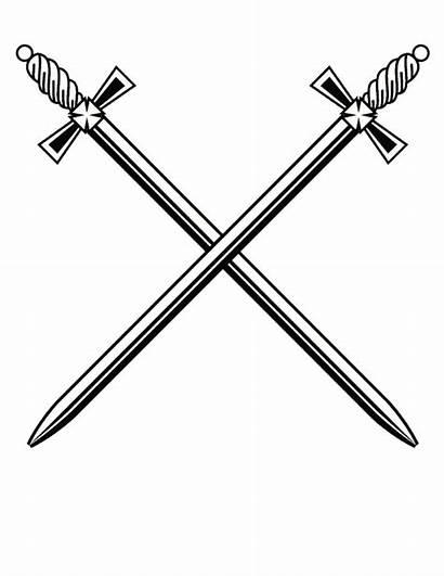 Sword Swords Cross Clipart Transparent Crossed Vector