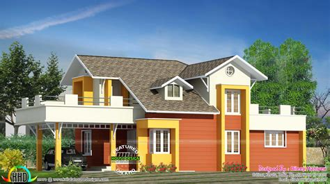 Designer Details Colorful Home by Semi Contemporary Colorful Home Kerala Home Design And