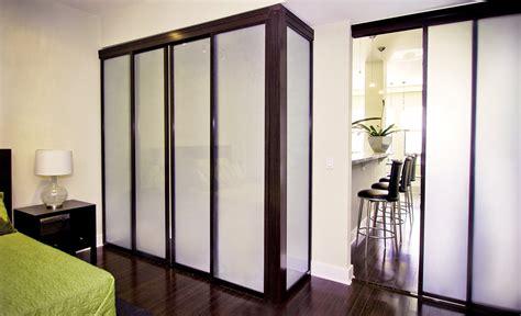 freestanding sliding glass closet doors