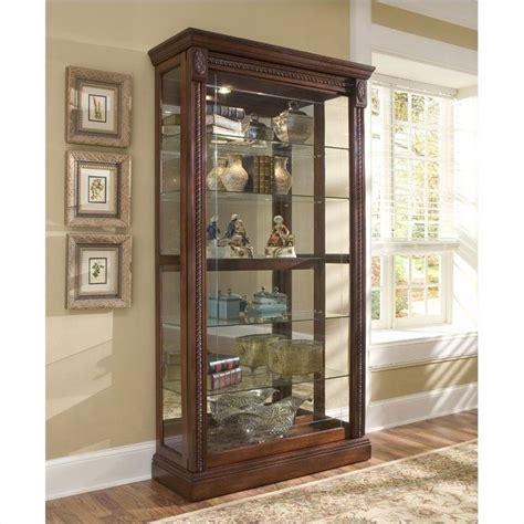 Pulaski Curio Cabinet 20485 by Pulaski Medallion Cherry Curio Cabinet 20485