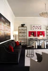 100 best red living rooms interior design ideas With red and black living room decorating ideas