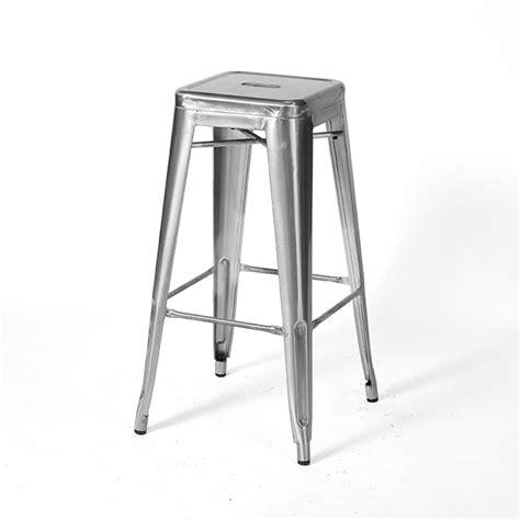 tabouret de bar en m 233 tal inspiration tolix couleur silver mobilier magasin de d 233 co et cadeaux