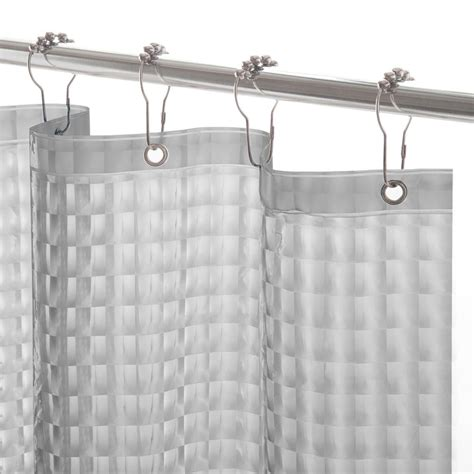 Shower Curtain Liners - interdesign poly waterproof stall size shower curtain