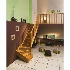 Escalier Quart Tournant Bas : escalier quart tournant bas droit authentic structure bois ~ Dailycaller-alerts.com Idées de Décoration