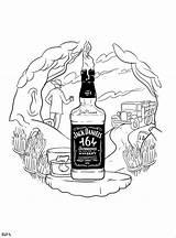 Jack Daniels Drawing Bottle Seeinglooking Mcbess Andriulli Bernstein Sketches Early sketch template