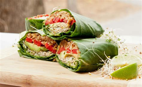 vegan cuisine vegan collard wraps recipe