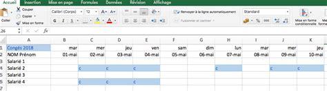 modèle planning congés excel gratuit planning de cong 233 s excel calendrier pdf excel gratuit de