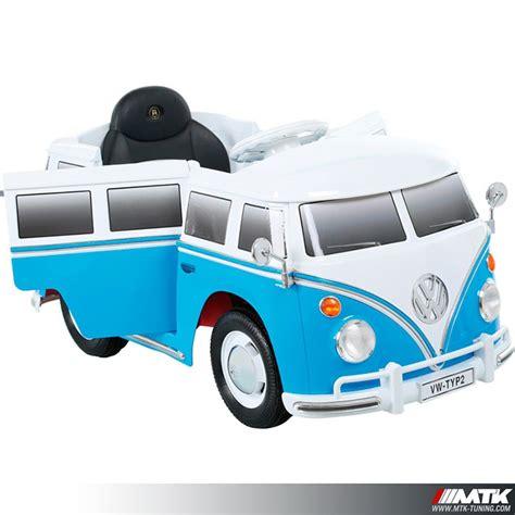 siege auto 10 ans voiture électrique pour enfant vw combi bleu 12volts