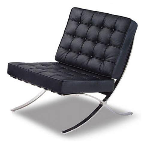 black leather contemporary barcelona chrome chair 163 499