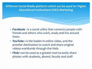 Social Networking Media for Marketing Educational Institution