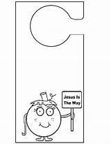 Door Template Sign Knob Signs Templates Doorknob Hanger Pages Hangers Pumpkin Colouring Knobs St Sunday Jesus Way Sc Timeline Resume sketch template