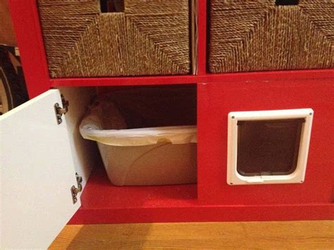 expedit shelving unit total kitty litter disguise diy