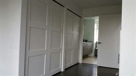 panel shaker closet doors  foot opening closet
