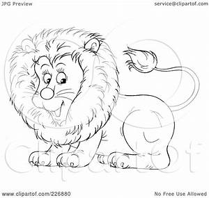Baby Lion Outline