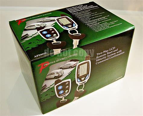 audiovox prestige aps997c 2 way lcd car alarm remote start starter aps 997 new ebay