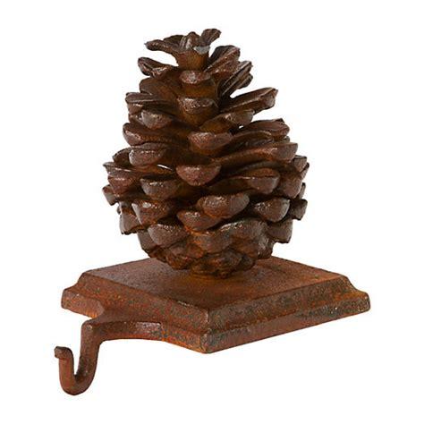 pinecone stocking holder pinecone holder brown