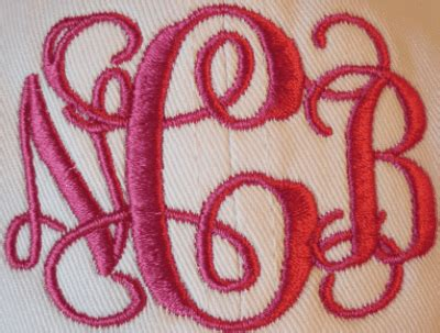 entwined  vine  letter monogram machine embroidery designs