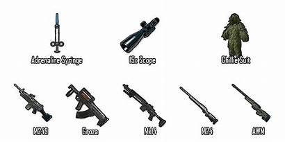 Pubg Gun Mobile Airdrop Weapons Guns Transparent