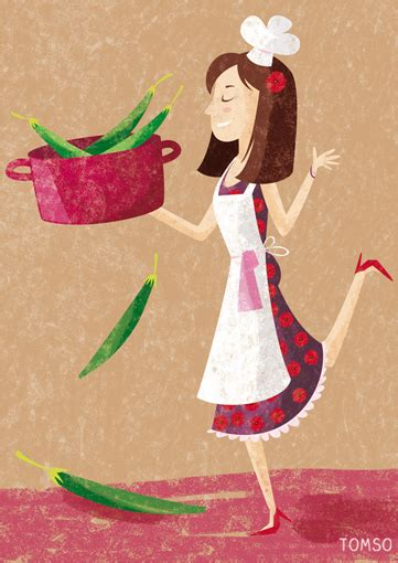 femme cuisine illustration recette cuisine studio tomso