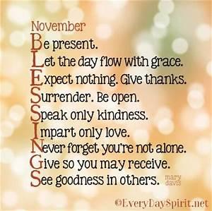 November blessings ~ #blessings everydayspirit.net ...