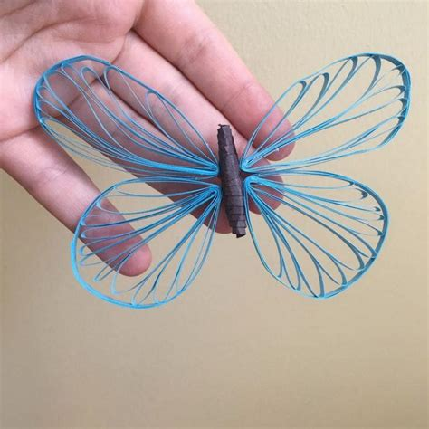 shimmering ice blue quilled butterfly allfreepapercraftscom