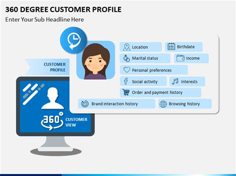 degree customer profile powerpoint template sketchbubble