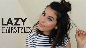 Cute Lazy Day Hairstyles NO HEAT YouTube