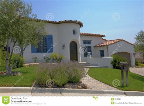 style home spanish style home stock image image 1348631