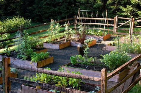 raised bed vegetable garden traditional landscape
