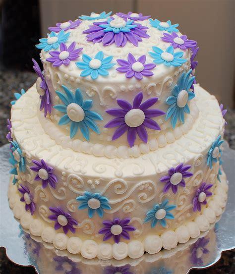 Sugarsong Custom Cakes A Cool Blue Birthday Cake