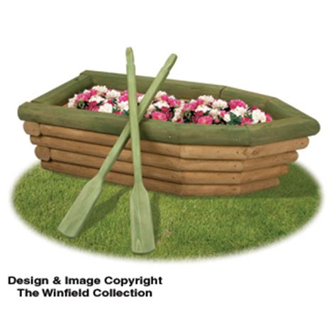 How To Build A Boat Planter by Planter Woodworking Plans Landscape Timber Rowboat