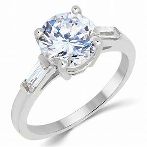 14k solid white gold cz cubic zirconia solitaire for 1 ct wedding ring