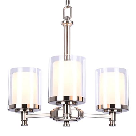 hton bay burbank 3 light brushed nickel chandelier with