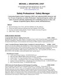 hvac technician sample resumes michael bradford chst ahsm safety professional resume